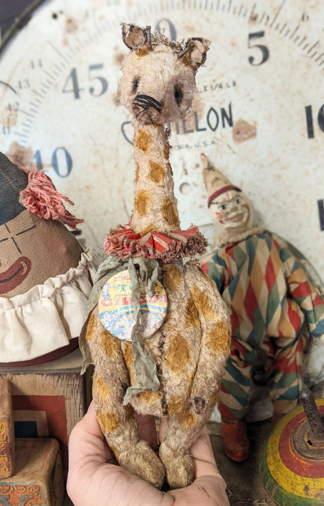 "Image of Schoenhut ToY Circus 10"" Old Giraffe by Whendi's Bears"