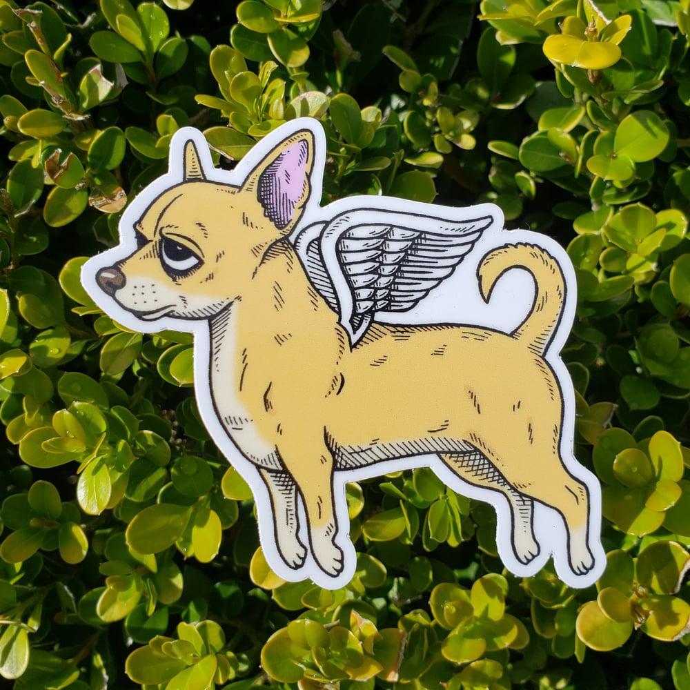 "Flying Chihuahua 3"" Vinyl Sticker"