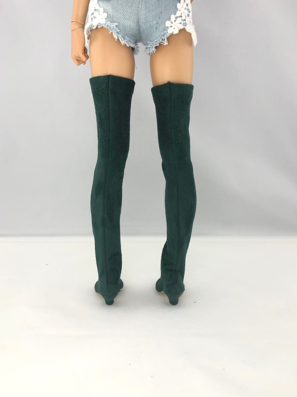 Emerald Suede Thigh High Boots: Minifee