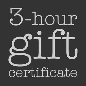 Image of 3-Hour Gift Certificate