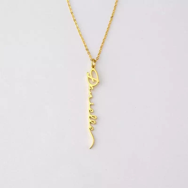 Image of Drop down personalised signature necklace