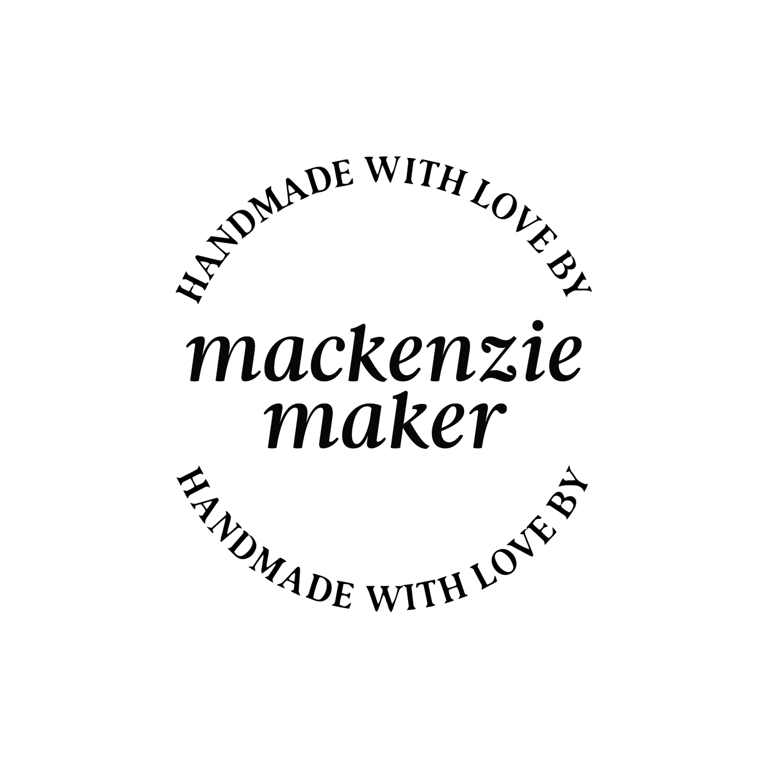 Image of Round Handmade with Love by italic