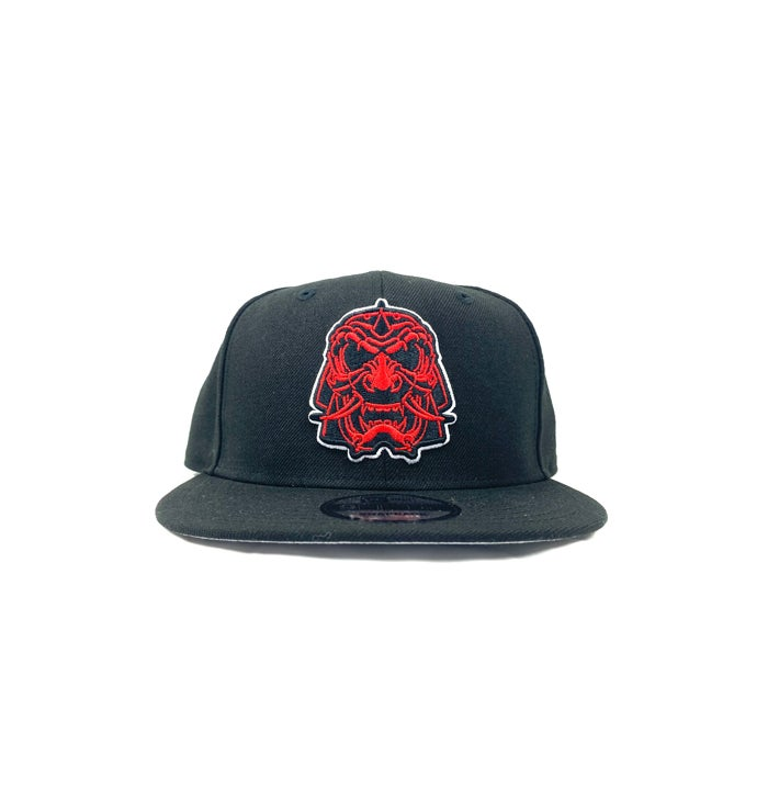 "Image of 2520 X NEW ERA SENSHI AKA ""THE WARRIOR"" 9 FIFTY SNAPBACK -BLACK/SCARLET"