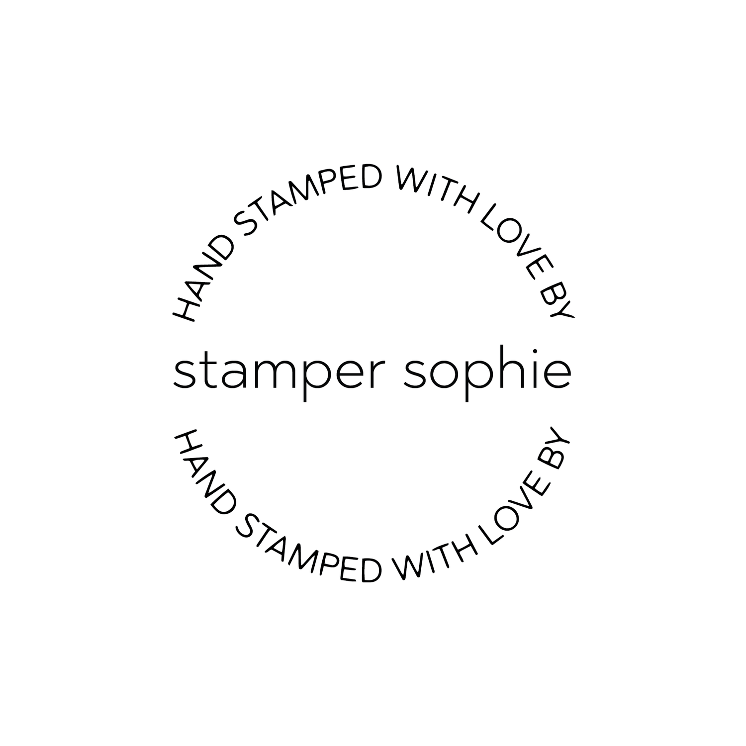Image of Round Hand Stamped with love by Modern