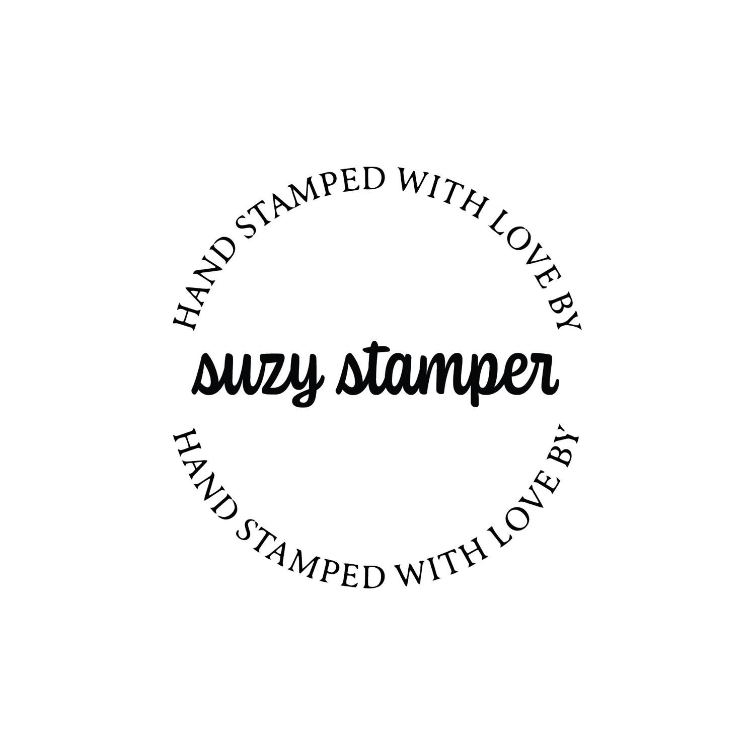 Image of Round Hand Stamped with love by Cursive