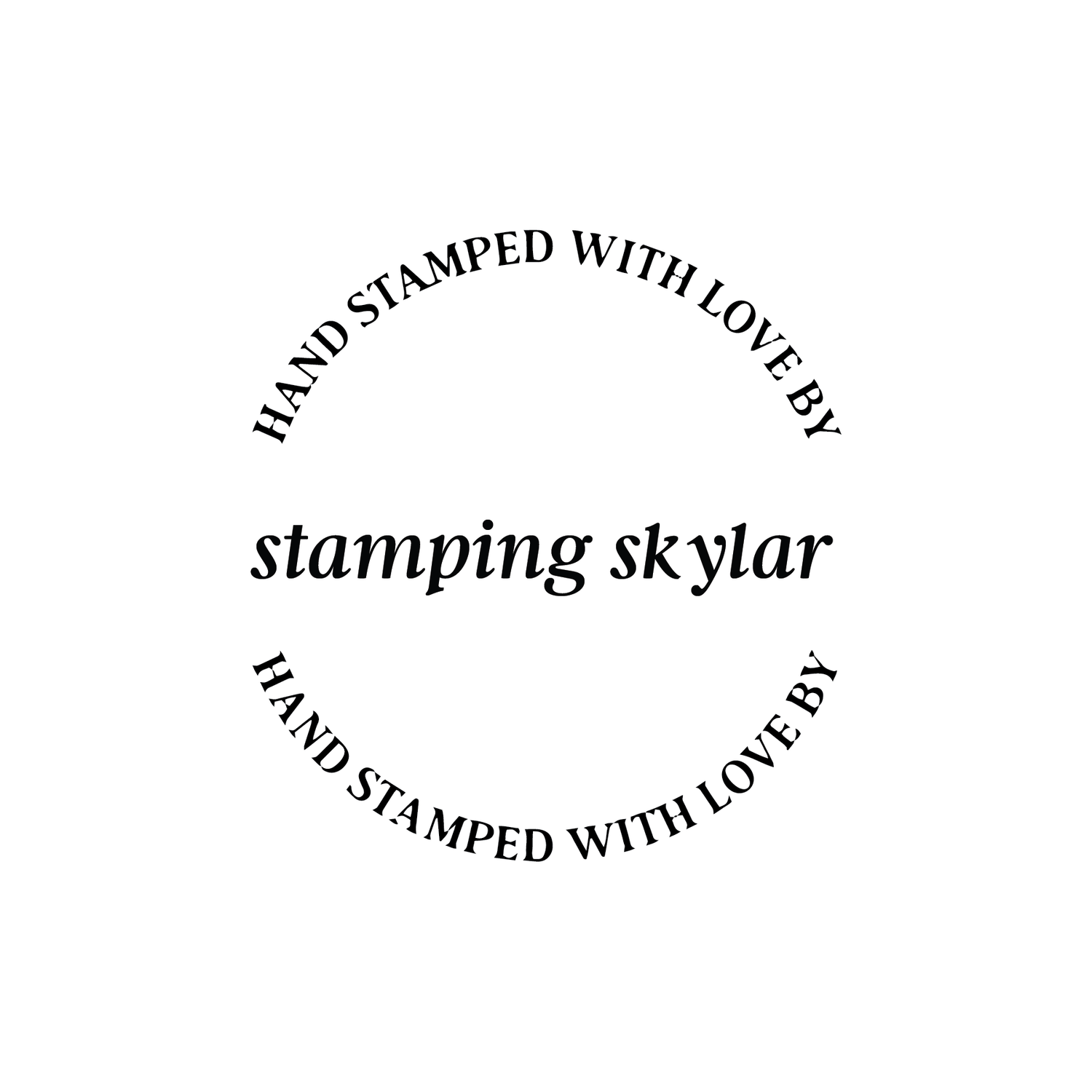 Image of Round Hand Stamped with Love by Italic