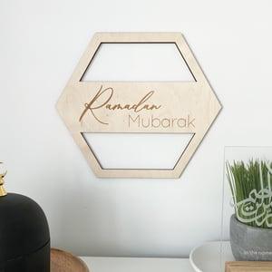 Image of ramadan + eid wood plaque