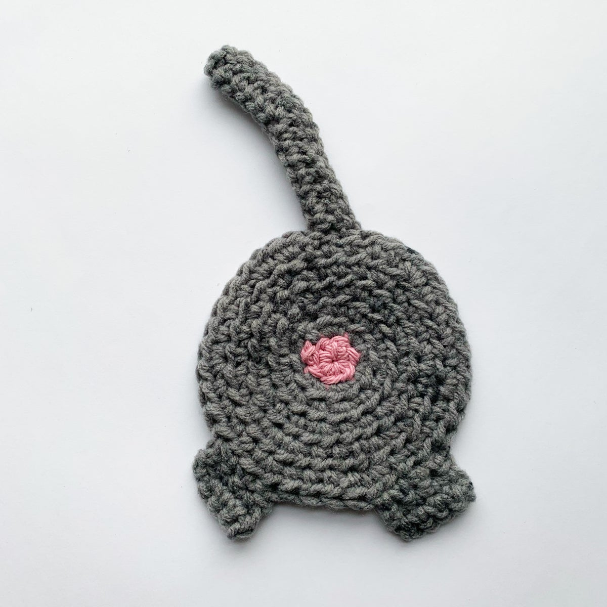 Image of Cat-Tail Crocheted Coaster