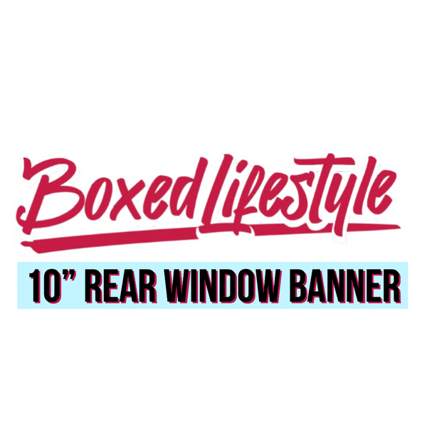 """Image of 10"""" Rear Window Banners"""