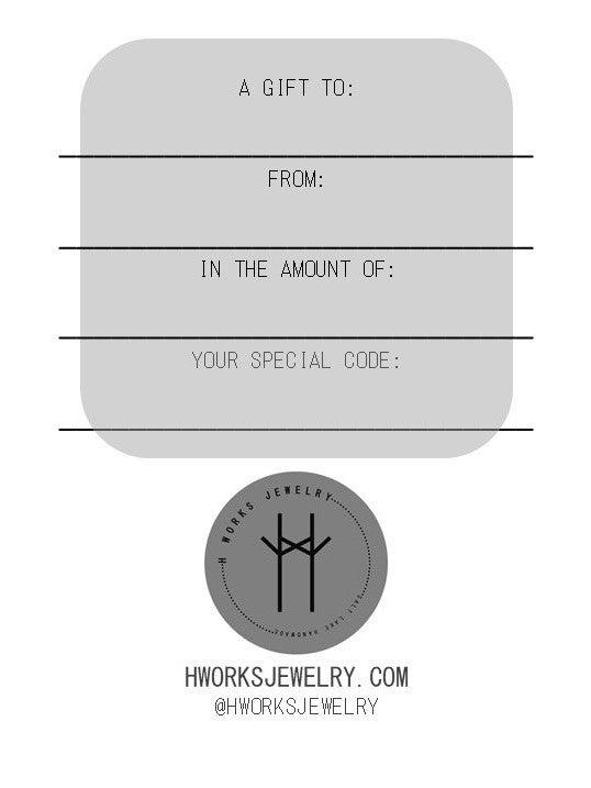 Image of H Works Jewelry Gift Certificate