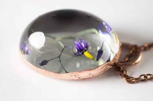 Image of Woody Nightshade (Solanum dulcamara) - Copper Plated Necklace #5