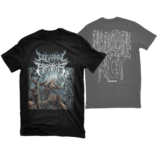 "Image of DELUSIONAL PARASITOSIS ""INGURGITATING INTESTINAL ROT"" T-SHIRT"