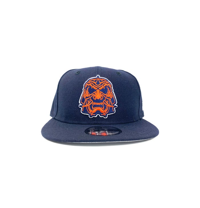 "Image of 2520 X NEW ERA SENSHI AKA ""THE WARRIOR"" 9 FIFTY SNAPBACK -NAVY/ORANGE"