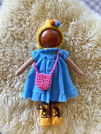 Image of Mini Madchen Cloth and Wood Art Doll : Blond w/ Sunshine Pixie