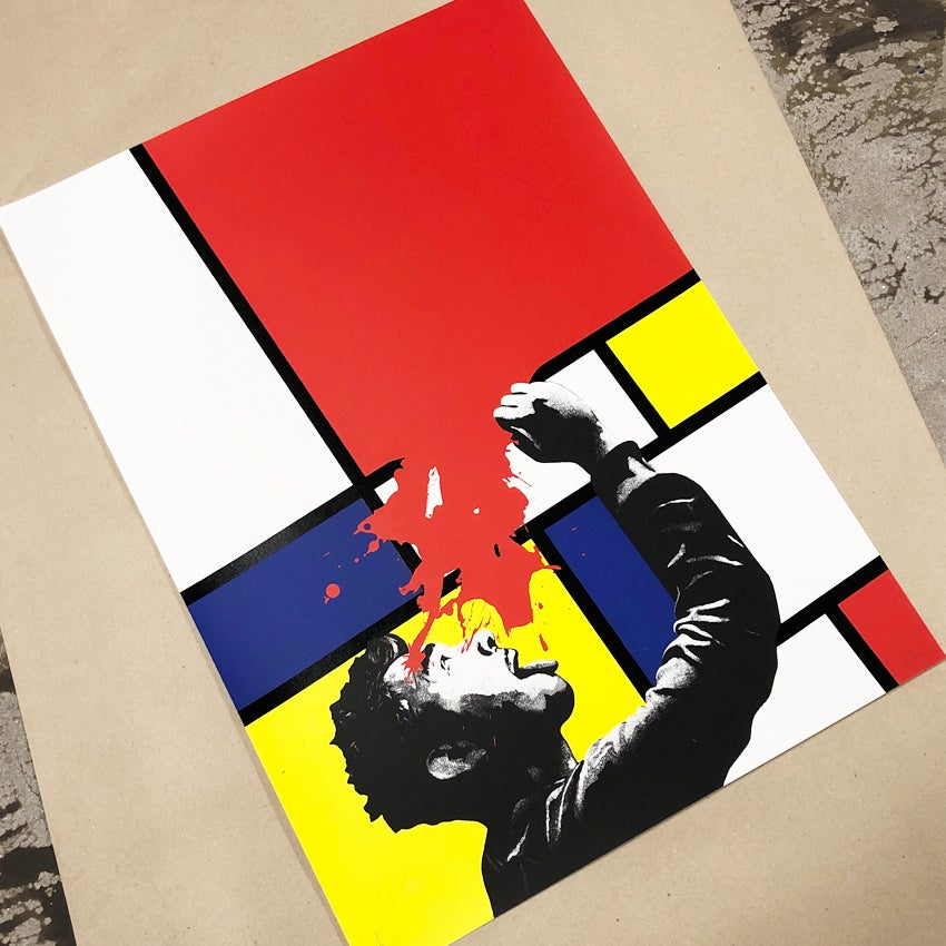 """Image of """"Soak Up Art When You Can"""" 6 Colour Screen Print from an Edition of 100"""