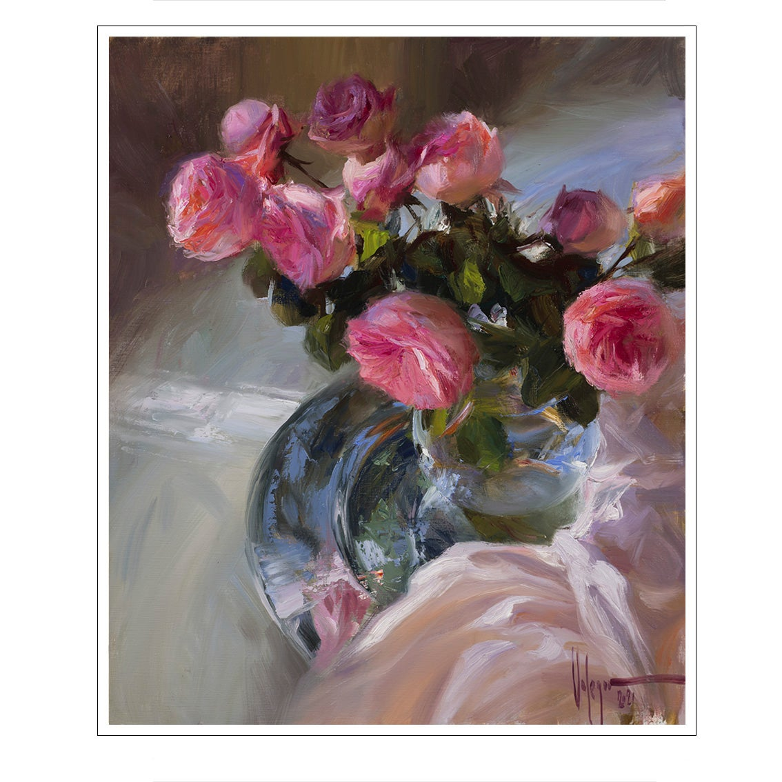 """Image of PRINT ON CANVAS """"THE NAME OF THE ROSE"""""""