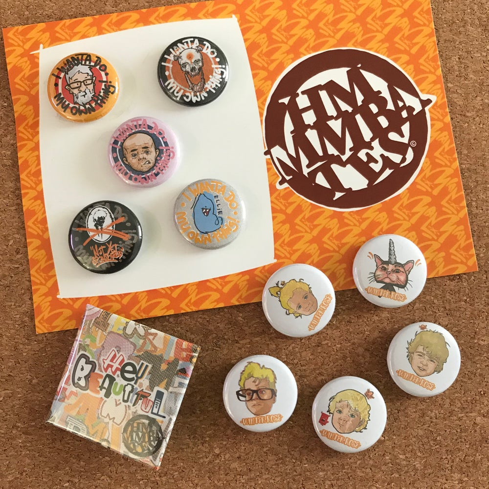 Image of Hmmmbates button Badge pack
