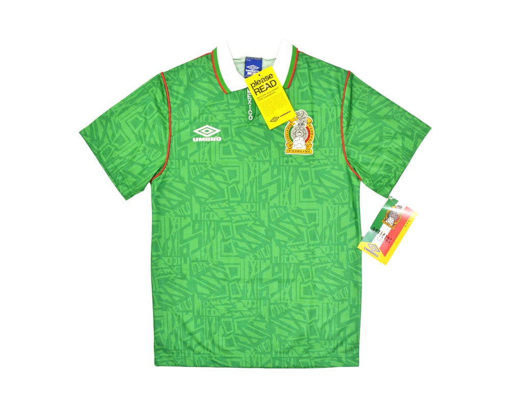 Image of 1994 Umbro Mexico Home Shirt S