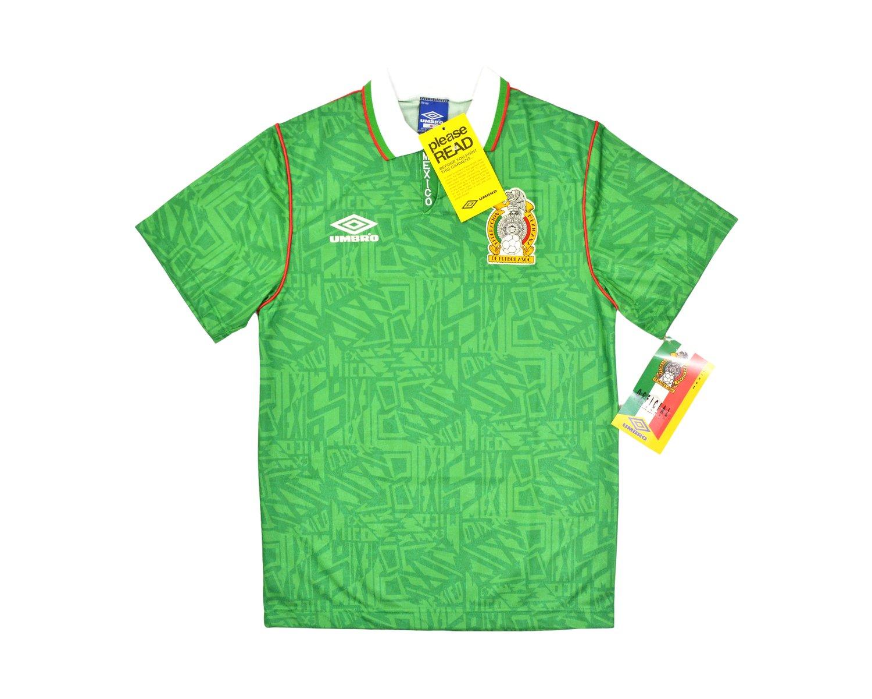 Image of 1994 Umbro Mexico Home Shirt S