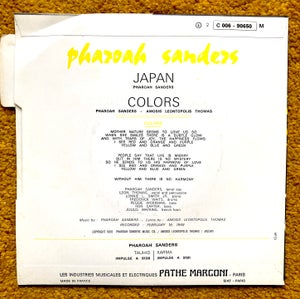 Image of PHAROAH SANDERS - Japan / Colors (EMI Stateside 2C 006 - 90650)