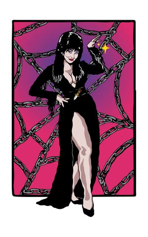 Image of Mistress of the Dark woven blanket PREORDER