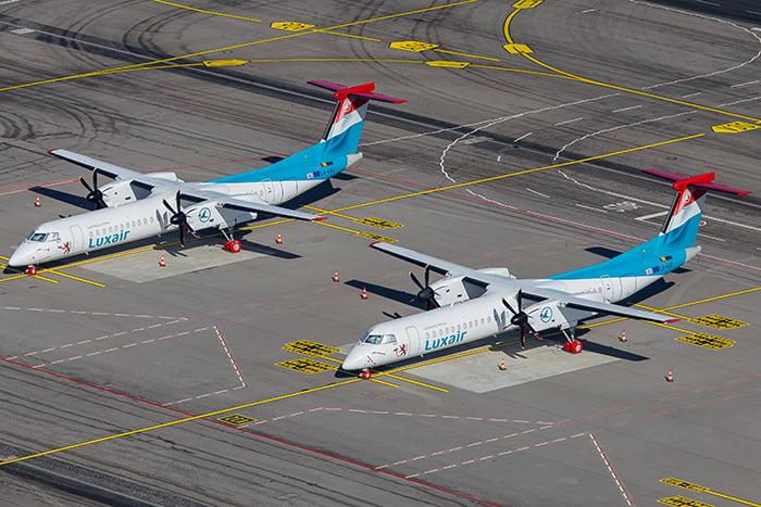 Image of Luxair Dash-8 Fleet