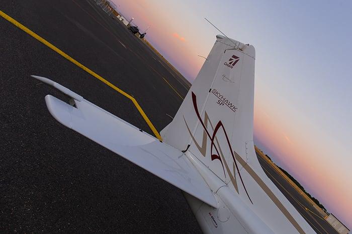 Image of Sunset flight