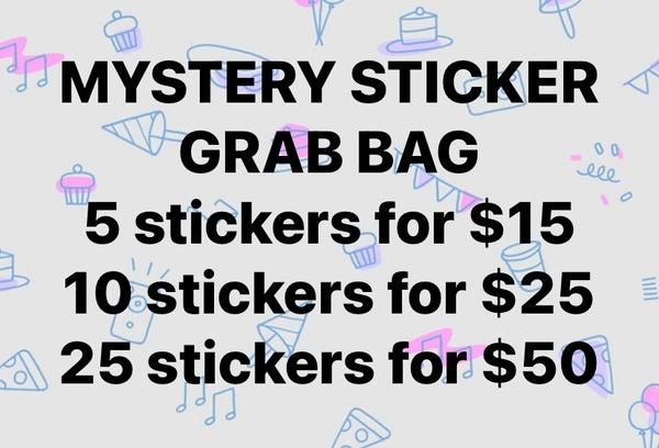 Image of GRAB BAG OF STICKERS!