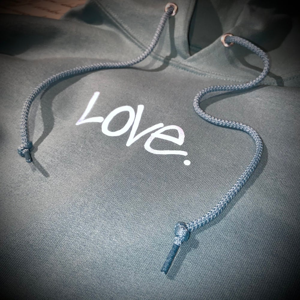 "Image of SAGE x Reflective Grey  ""Love...period!"" Hoodie"