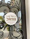 Please Do Not Ring the Doorbell Sign for Door