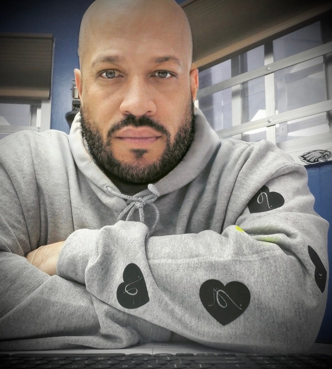 "Image of Grey ""Heart On My Sleeve"" Hoodie"