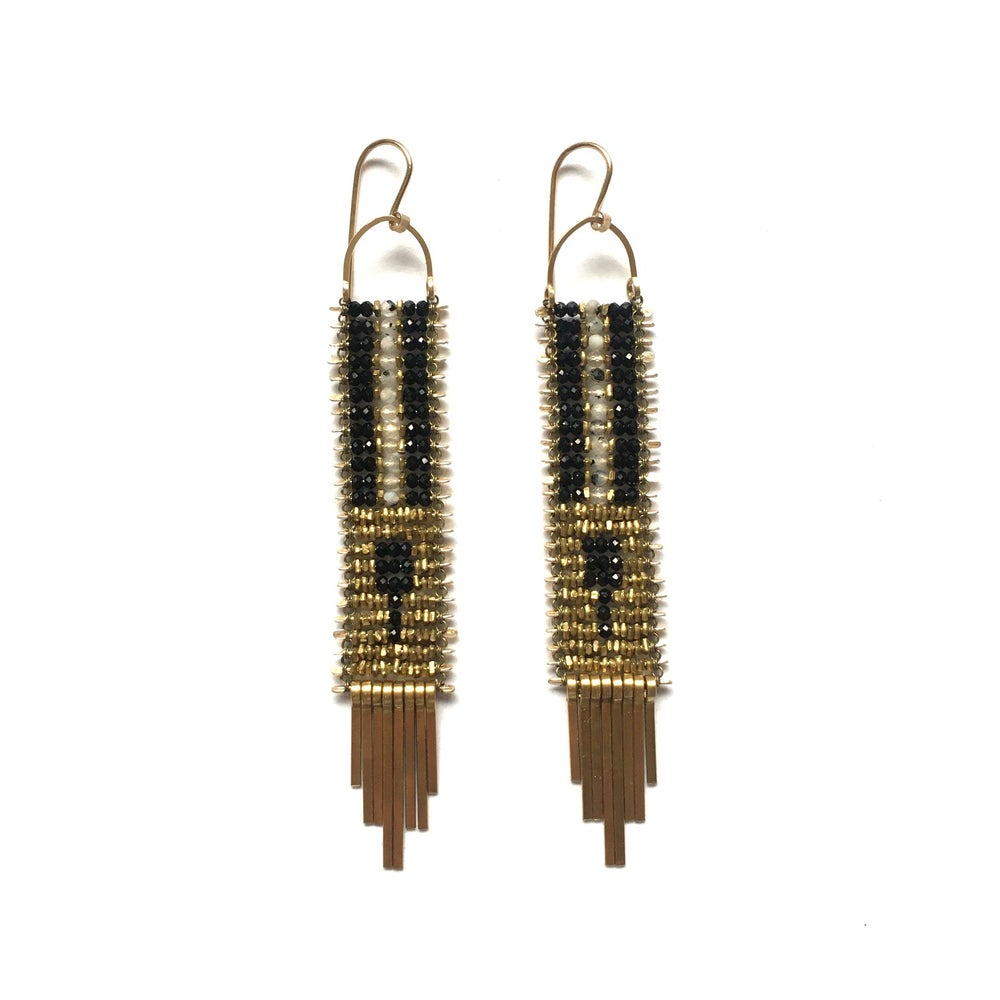 Image of Demimonde Rutile Quartz and Spinel Pattern Earrings