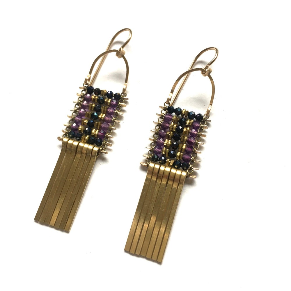 Image of Little Amethyst and Spinel Earrings