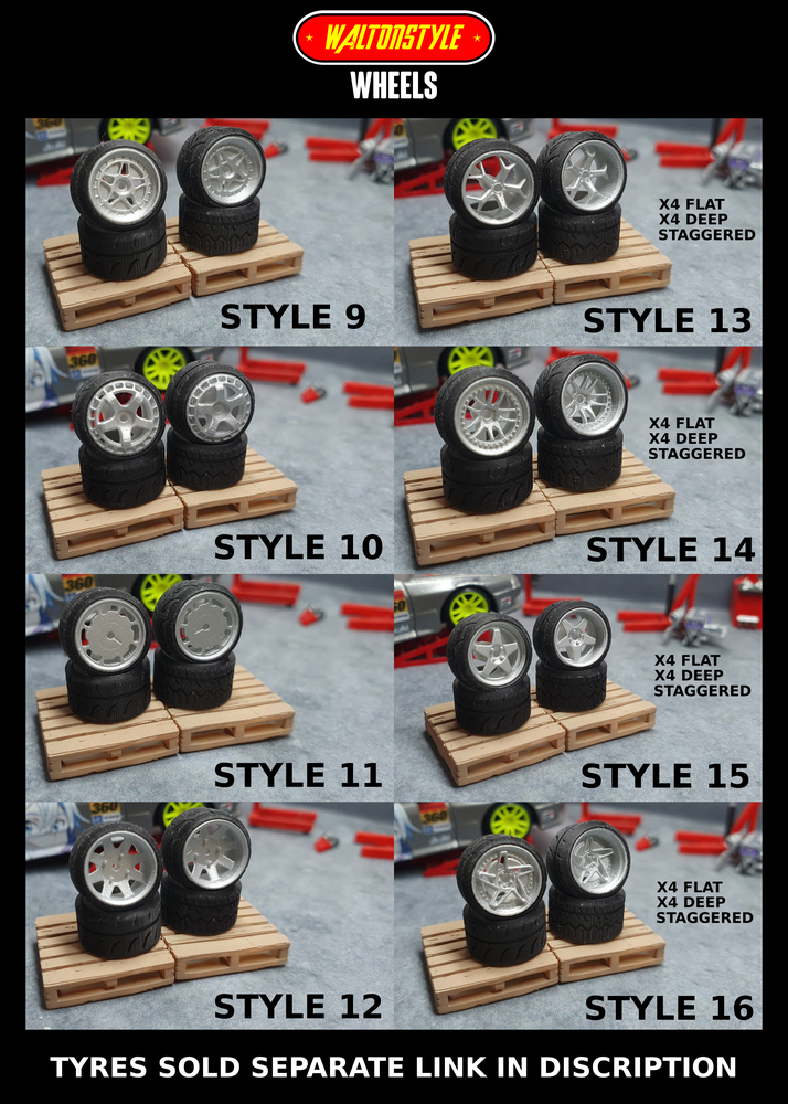 Image of RESIN WALTONSTYLE WHEELS  (WHEELS ONLY)