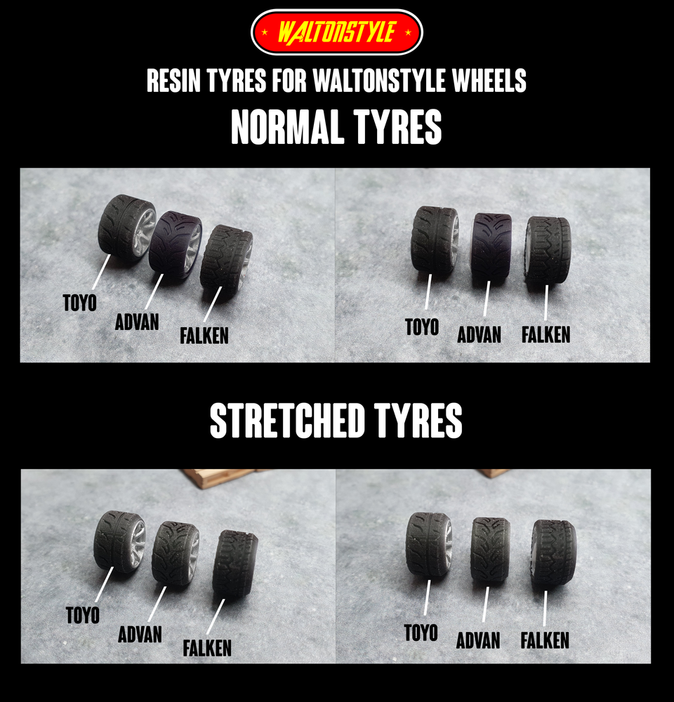 Image of RESIN TYRES FOR WALTONSTYLE WHEELS