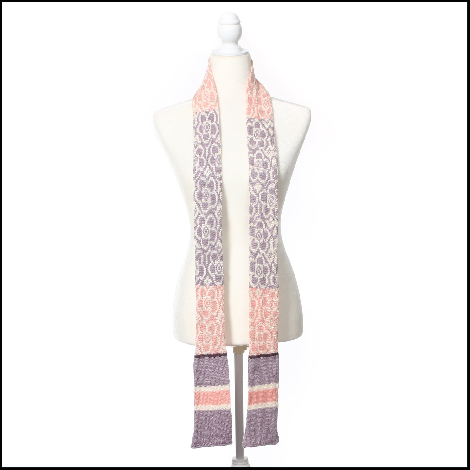 Image of Floral Skinny Scarf - Organic Cotton