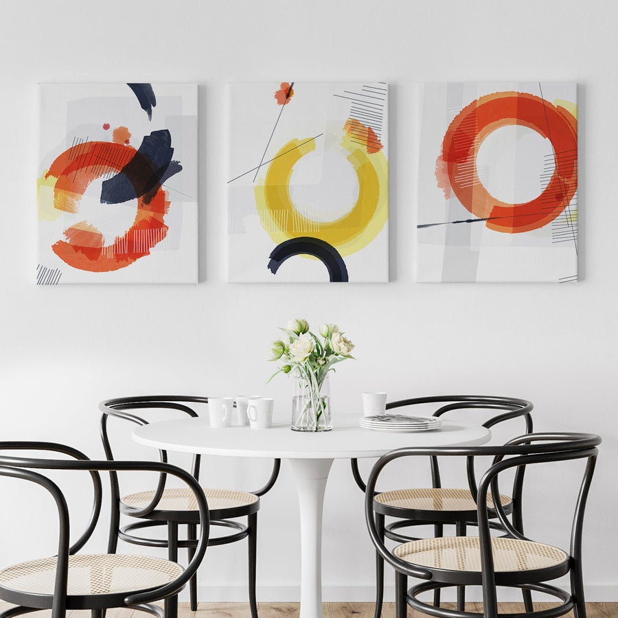 Image of Nucleus Series — 3 Canvas Print Set