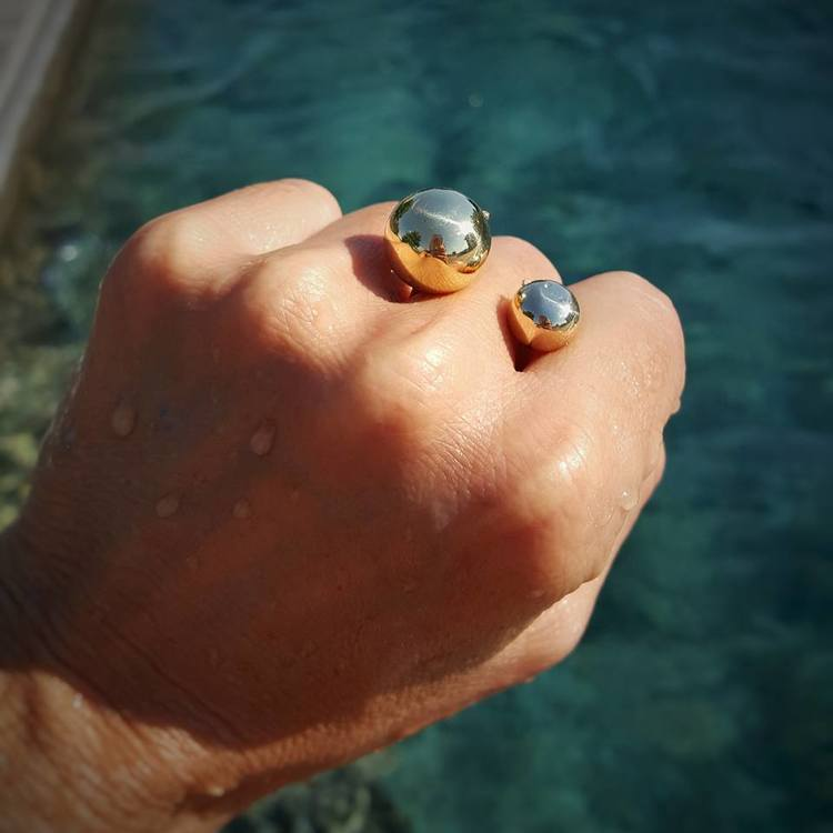 Image of Bisjoux Brass Moon Ring