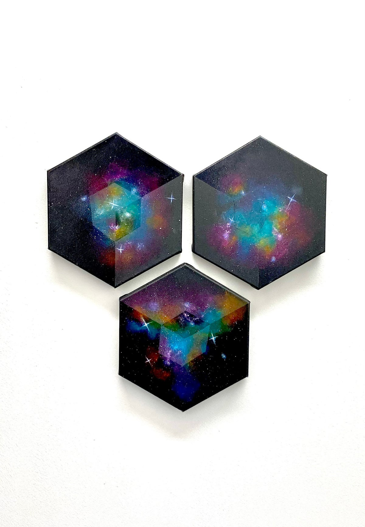 Image of Miniture Imagined Nebula Triptych