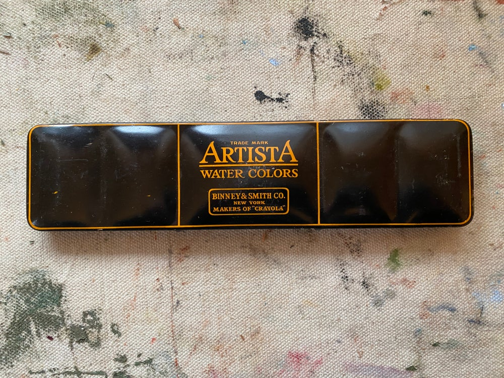 Image of Vintage Artista Watercolor Palette