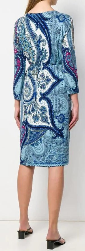 Image of Blue damask Pattern