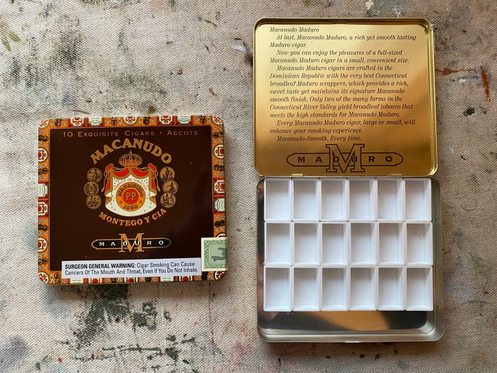 Image of Vintage Macanudo Watercolor Palette