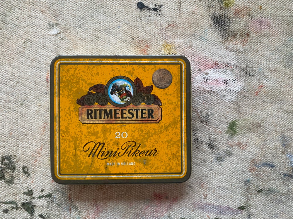 Image of Vintage Ritmeester Watercolor Tin