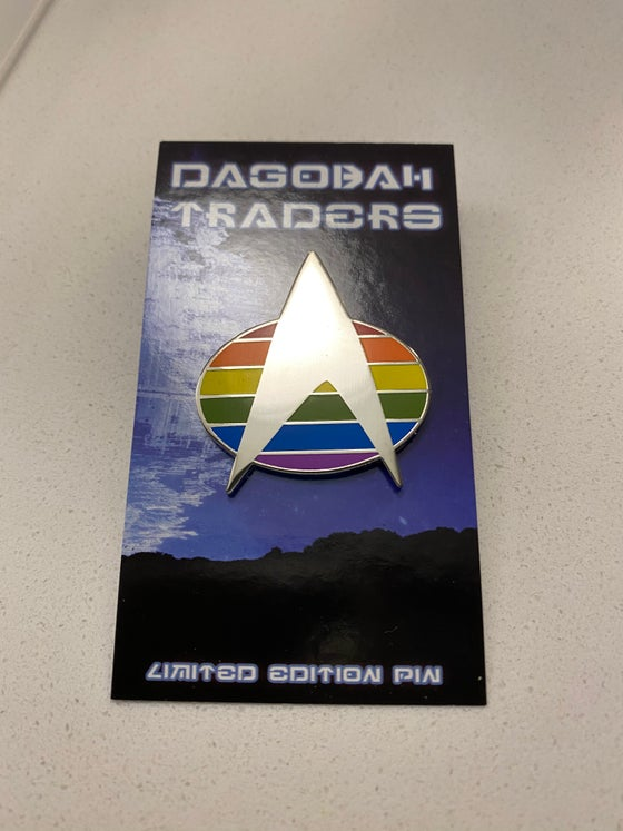 Image of Trek Pride Communicator Lapel Pin 1.50""