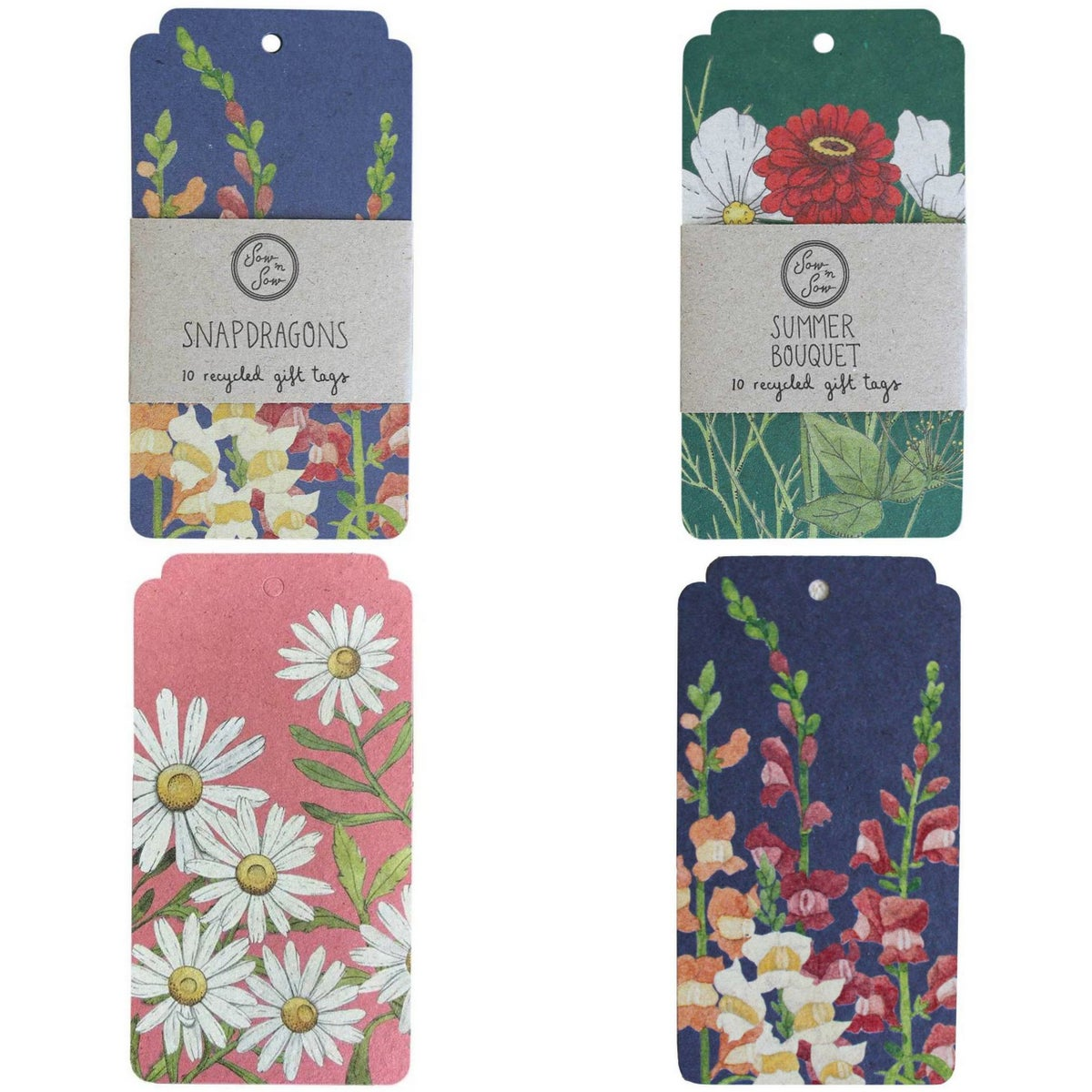 Image of Large Flower Gift Tags