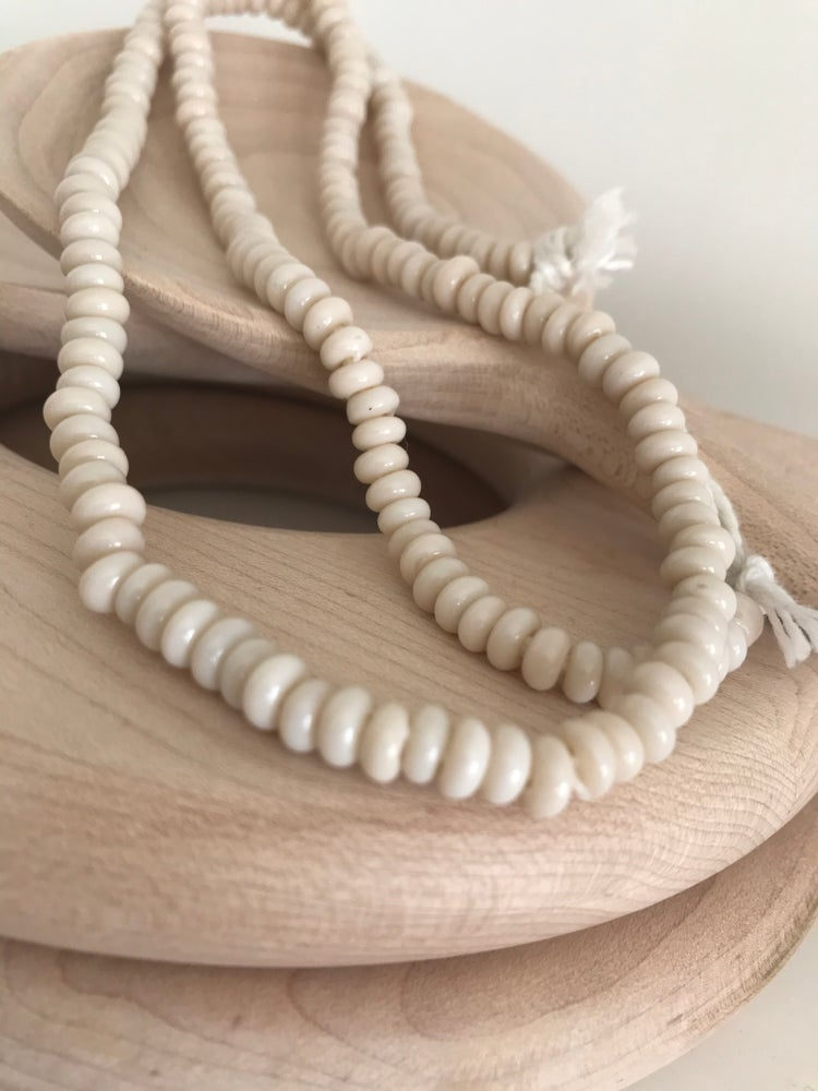 Image of Cream Glass Beads - Small