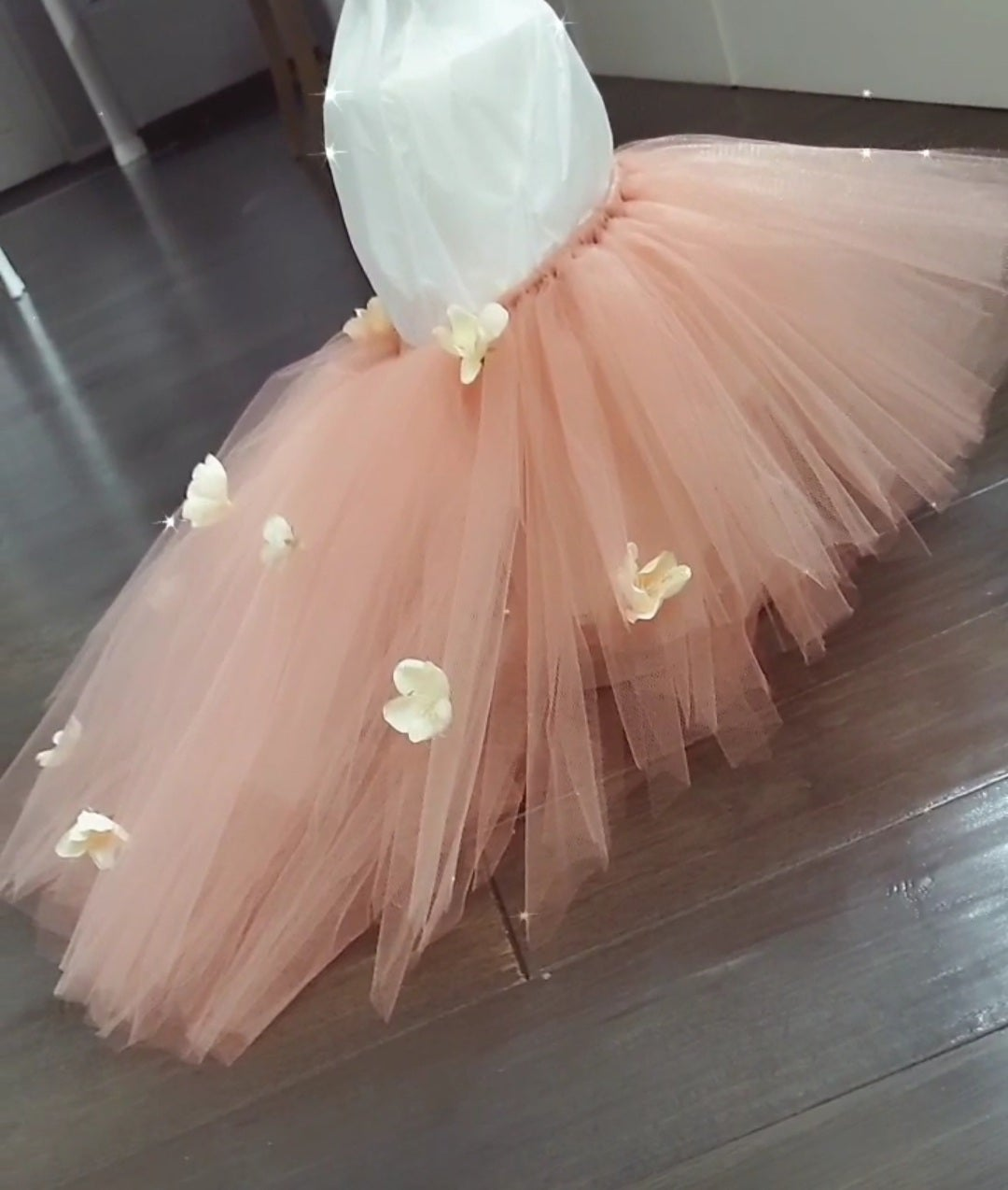 Image of Floral train high-low tutu