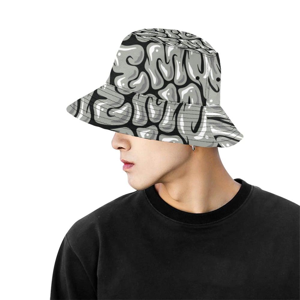 Image of Hustle Memory Grey/Black Bucket hat
