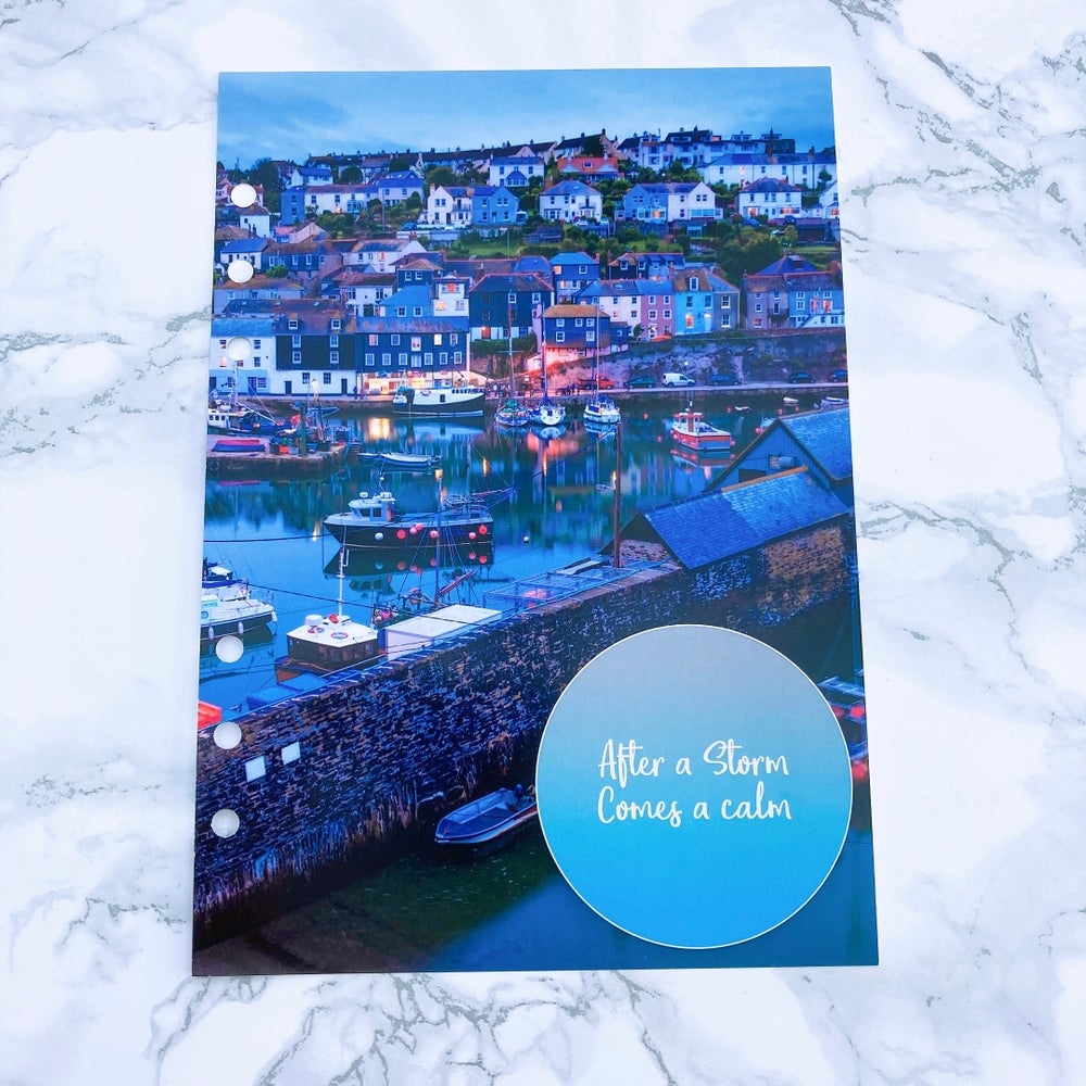 Image of A5 FOOD DIARY ORGANISER INSERT AFTER A STORM COMES CALM