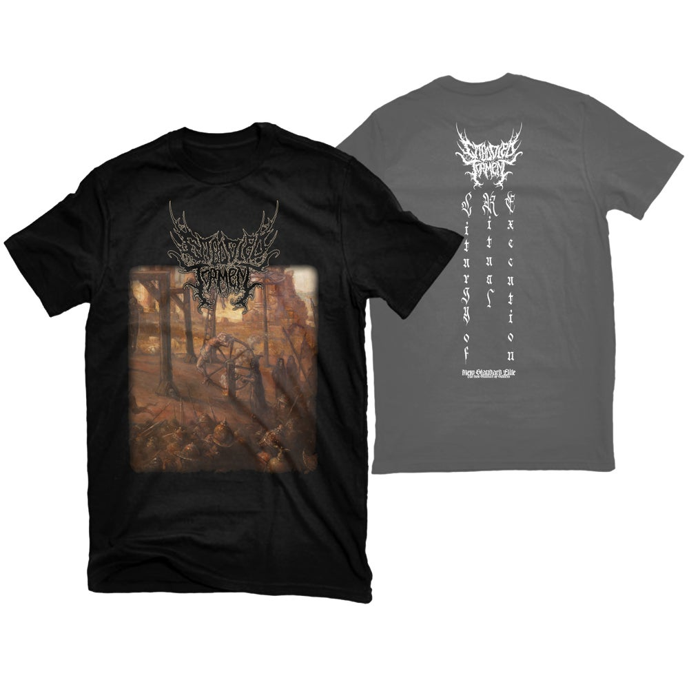 """Image of EMBODIED TORMENT """"LITURGY OF RITUAL EXECUTION"""" T-SHIRT"""